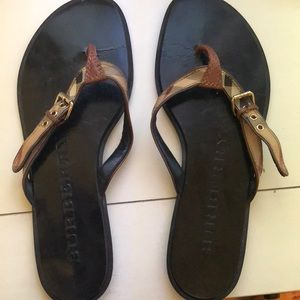 Authentic Burberry sandals size 7 1/2